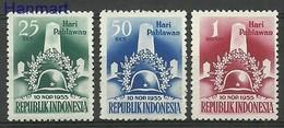 Indonesia 1955 Mi 155-157 Mh - Mint Hinched ( PZS8 INS155-157dav88A ) - Indonesia