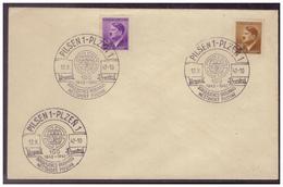 BM (007741) Umschlag Mit Sonderstempel 110, Pilsen 1 Vom 12.10.1942 - Böhmen Und Mähren