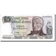Billet, Argentine, 5 Pesos Argentinos, KM:312a, NEUF - Argentine