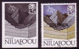 Niuafoou 1989 Evolution - Blackprint Proof + Specimen - Formation Land, Rain, Lightning - Tonga (1970-...)