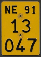 Velonummer Mofanummer Neuenburg NE 91 - Plaques D'immatriculation