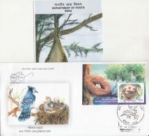 India  2017  Bird Nest  Children Day  MS  Kanpur  FDC  + Plain Brochure  # 10237  D Inde Indien - FDC