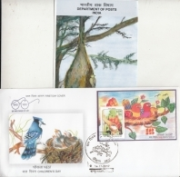 India  2017  Bird Nest  Parrots  Children Day  MS  Kanpur  FDC  + Plain Brochure  # 10236  D Inde Indien - FDC