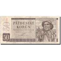 Billet, Tchécoslovaquie, 50 Korun, 1950, 1950-08-29, KM:71a, TTB - Tchécoslovaquie