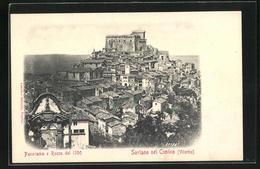 Cartolina Soriano Nel Cimino, Panorama E Rocca - Italia