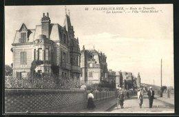 CPA Villers-sur-Mer, Route De Trouville, Les Liserons, Villa Saint-Michel - Villers Sur Mer