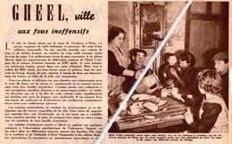 GHEEL ..1946.. VILLE AUX FOUS INOFFENSIFS - Non Classés