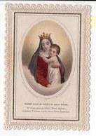 MARIE MERE DE JESUS  LITHOGRAPHIE  COULEUR CANIVET XIXéme - Images Religieuses