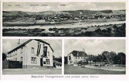 AK Thüngersheim Bei Würzburg, Panorama Mit Main Und Gasthaus Zur Krone 1933 - Germany