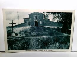Toffia Sabina - Chiesa Di S. Lorenzo. Alte, Seltene AK S/w. Gebäudeansicht, Kirche, Italien - Italien