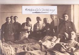 CPA PHOTO - POLOGNE - TESCHEN -CIESZYN - HOPITAL INFIRM CHASSEURS ALPINS BLESSES 15ème Cie Conflit POL TCH 1920 - Poland