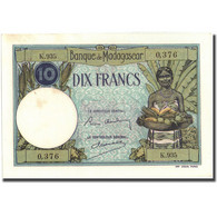 Billet, Madagascar, 10 Francs, KM:36, SUP+ - Madagascar