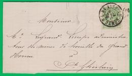 30 Lettre - DC. BRAINE-le-COMTE 1876 Vers St. Ghislain. Avec Contenu / 0309/2 - 1869-1883 Leopold II.
