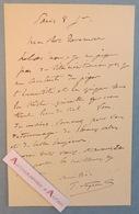 L.A.S Paul VAYSON Peintre & Graveur Né à Gordes Vaucluse Lettre Autographe à Son Cher Tavernier élève De Charles Gleyre - Autographes