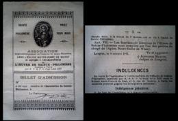Wassy Archiconfrérie Saint Philomène Fin 19ème Petit Feuillet De 8 Pages Bon état Général Frais De Port En Courrier Suiv - Wassy