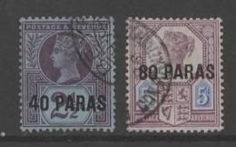 British Levant Queen Victoria Stamps.. - British Levant