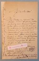 L.A.S Émile VAN MARCKE DE LUMMEN Peintre & Graveur Né à Sèvres - Lettre Autographe - Hyères - Autographes
