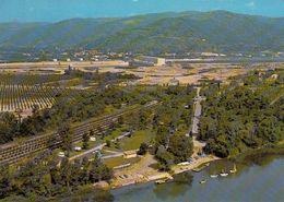 Cp , 07 , BEAUCHASTEL , Le Port Et Le Camping; En Second Plan, La Centrale Et Le Village - Autres Communes