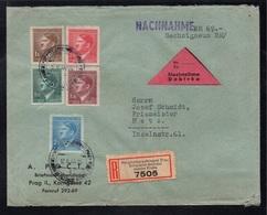 BOHEME & MORAVIE - PRAGUE - III REICH / 1944 LETTRE RECOMMANDEE CONTRE REMBT POUR METZ (ref 7709i) - Bohême & Moravie