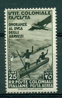 V7486 ITALIA COLONIE EMISSIONI GENERALI 1934 Onoranze Al Duca Degli Abruzzi, Posta Aerea, MNH**, Sass. 30, - Emisiones Generales