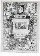 CARTE  SOUVENIR  De  LECLERC  -  Du  TCHAD  Au  RHIN  -  1902  1947 - Autres