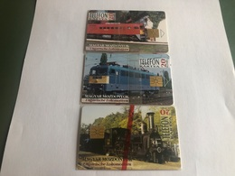 Hungary - Train - 3 Mint In Blisters Chipcards - 4000 Ex - Ungarn