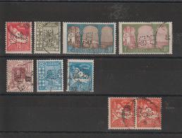 Algérie Lot De 9 Timbres Perforés BB Sur Différents Timbres Dont Une Paire - Algérie (1924-1962)