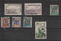 Algérie Lot De 7 Timbres Perforés CIMA Sur Différents Timbres - Algérie (1924-1962)