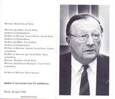 Devotie - Doodsprentje Overlijden - Priester Doctor Professor Joseph Van De Wiele - Marke 1923 - Kortrijk 1989 - Obituary Notices