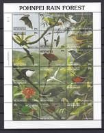 Micronesia 1991, Birds Complete Set In Sheet, MNH. Cv 16 Euro - Micronesia