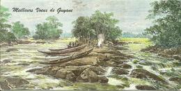 MAXI CARTE POSTALE PORTEFEUILLE - GUYANE - HALTE DANS UN SAUT - Editions G. DELABERGERIE N° 463 - Guyane