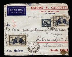 A6022) France Indochine Brief Saigon 01.01.38 N. Kilasavalpath / India - Indochina (1889-1945)