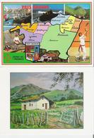PAYS BASQUE. 2 CP Multivues Les 7 Provinces - Bergerie D'après Oeuvre De Urandia - Autres Communes