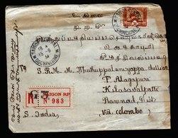 A6023) France Indochine R-Brief Saigon 15.09.34 N. Kilasavalpath / India - Indochina (1889-1945)
