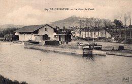 S1663 Cpa 18 Saint Satur - La Gare Du Canal - Saint-Satur