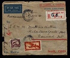 A6024) France Indochine R-Brief Saigon 04.01.36 N. Kilasavalpath / India - Indochina (1889-1945)