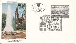 Austria FDC 10. EUROPA Sprach Der Stadt Wien 12-6-1967 With Cachet - FDC