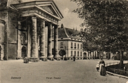Detmold, Theater, 1908 Nach Cornwal / England Versandt - Detmold