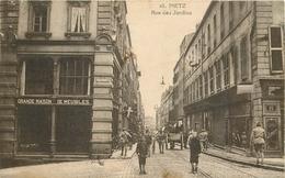WW Promo 2 Cpa 57 METZ. Rue Des Jardins Et Du Vivier Ainsi Arrivée De Pétain En 1918 - Metz