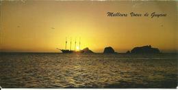 MAXI CARTE POSTALE PORTEFEUILLE - GUYANE - COUCHER DE SOLEIL - Editions G. DELABERGERIE N° 169 - Guyane