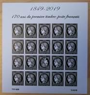 FRANCE 2019 BLOC FEUILLET CÉRÈS 1849 - 2019 170 ANS DU PREMIER TIMBRE FRANÇAIS NON DENTELÉ - NEUF ** - France