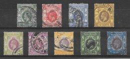 Hong Kong N°119, 120, 12 à 128 (filigrane Ca Multiple, Dentelé 14) 1921-1933 O - Oblitérés