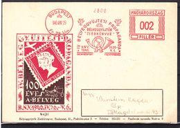 Hongrie - Carte Postale De 1940 - Oblit Spéciale Budapest - EMA - Empreintes Machines - Avec Vignette - Hungría