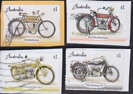 Australie: Motos Anciennes (adhésifs Sur Fragments) YT 4655/58 - Motorbikes