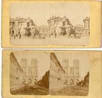 6 Photos Stéréoscopiques - PARIS - Place De La Concorde - Notre-Dame - Place Du Carrousel - Volière - Palais De Justice - Photos Stéréoscopiques