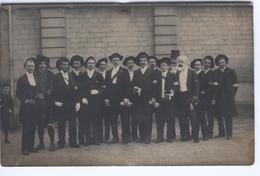 CAEN - Carte Photo Mi-Carème 1905 : Les Commissaires ( Photographie Jules Brechet à Caen ) - Caen