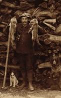 Jagd, Fuchsjagd, Jäger Mit Hund, Bayern, 1911 - Animaux & Faune
