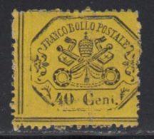 Etats Pontificaux 1868 Yvert 24 * TB Charniere(s) - Etats Pontificaux