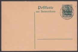 """Belgien: P 4, Kplt. Doppelkarte, Je Blanko Stempel """"Gent"""", 16.4.15 - Besetzungen 1914-18"""