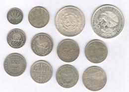 Lot 12 Monnaies / Coins - Argent / Silver - Amérique Du Sud / South America - Coins